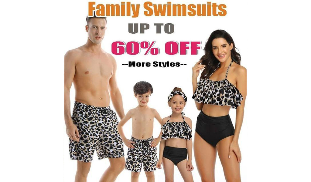 60% Off Family Swimsuits