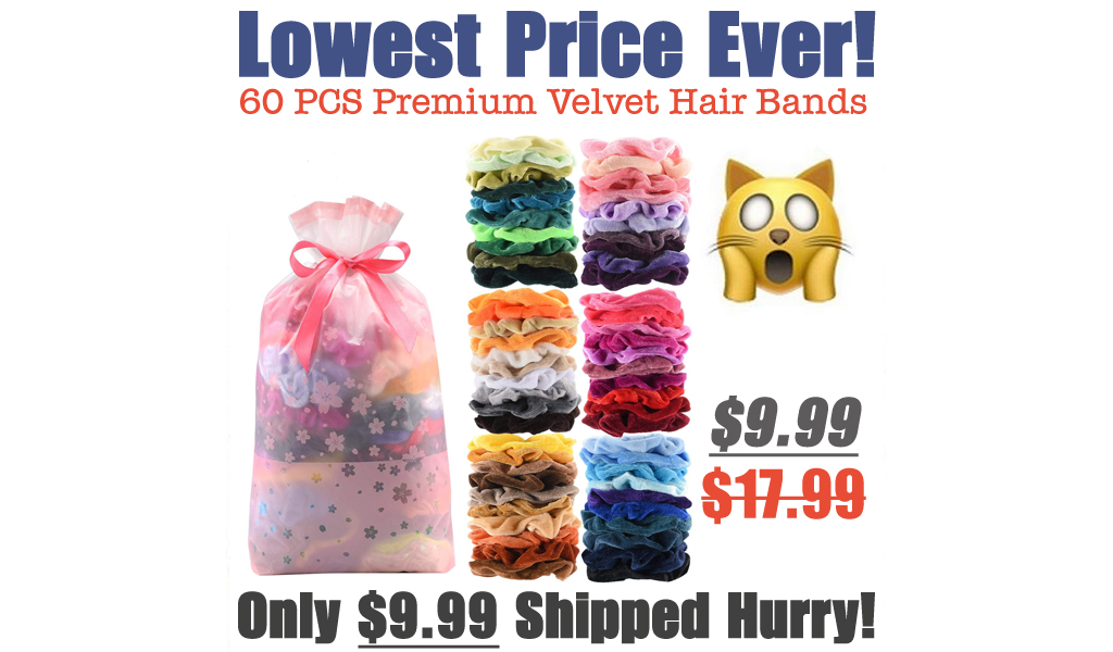 60 PCS Premium Velvet Hair Bands Just $9.99 Shipped on Amazon (Regularly $17.99)