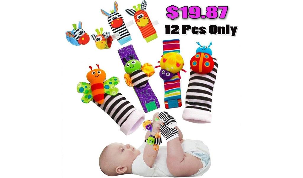 66% off Socks Toys Wrist Rattles