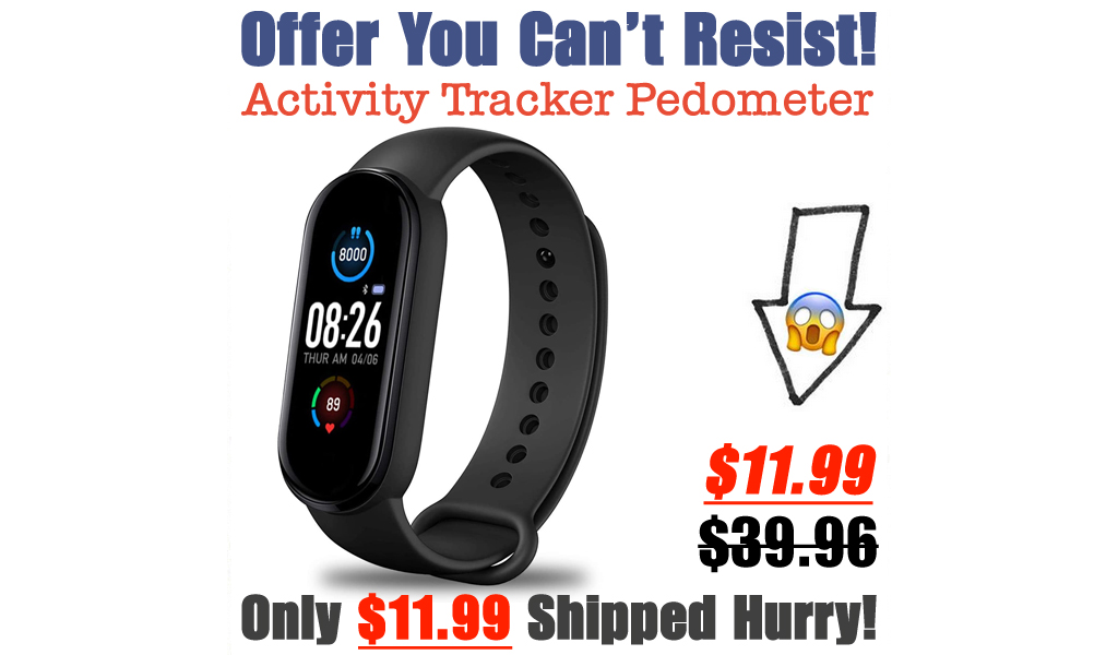 Activity Tracker Pedometer Only $11.99 Shipped on Amazon (Regularly $39.96)