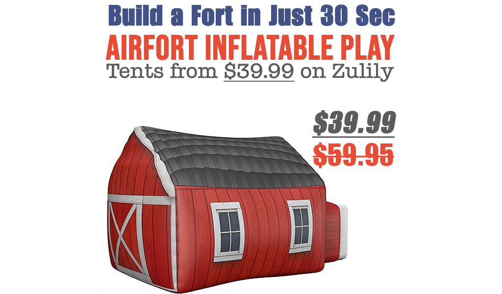 AirFort Inflatable Play Tents from $39.99 on Zulily (Regularly up to $59.95)
