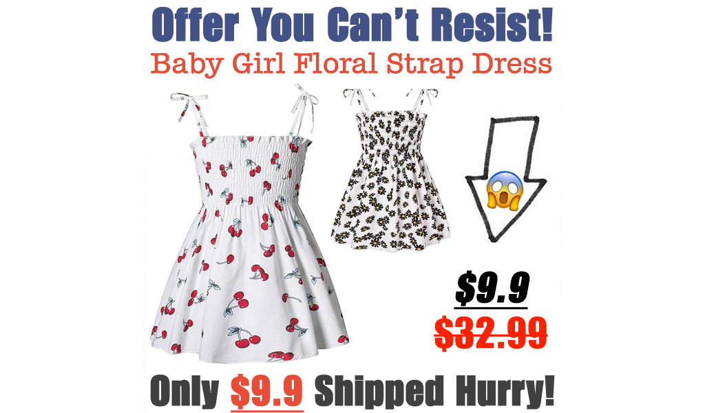 Baby Girl Floral Strap Dress Just $9.9 Shipped on Amazon (Regularly $32.99)