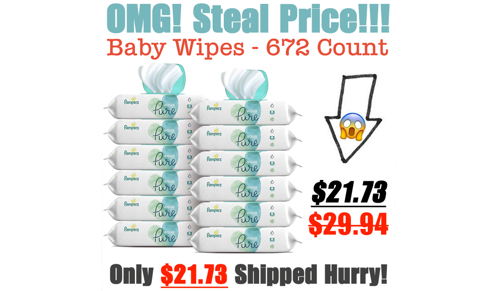 Baby Wipes - 672 Count Only $21.73 Shipped on Amazon (Regularly $29.94)