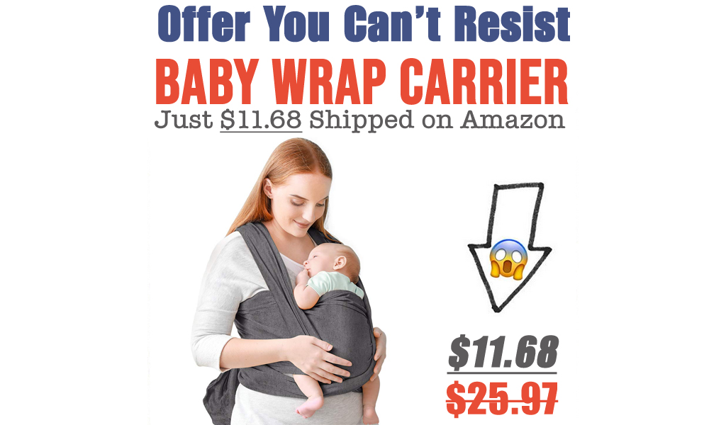 Baby Wrap Carrier Just $11.68 Shipped on Amazon (Regularly $25.97)