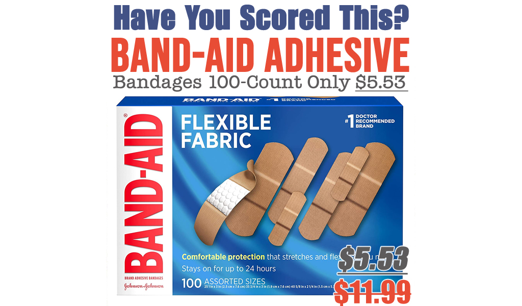 Band-Aid Adhesive Bandages 100-Count Only $5.53 Shipped on Amazon (Regularly $11.99)