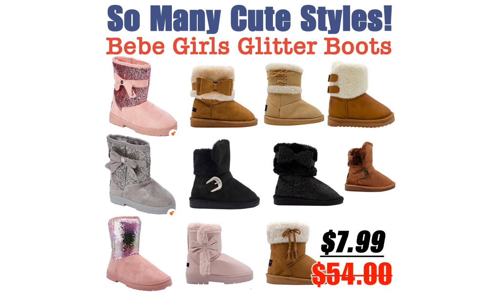 Bebe Girls Glitter Boots Just $7.99 on Zulily (Regularly $54) | So Many Cute Styles!