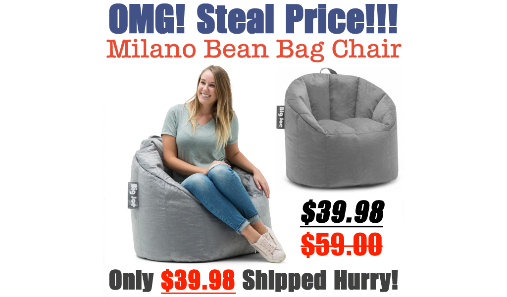 Big Joe Milano Bean Bag Chair Only $39.98 Shipped on Walmart.com (Regularly $59)