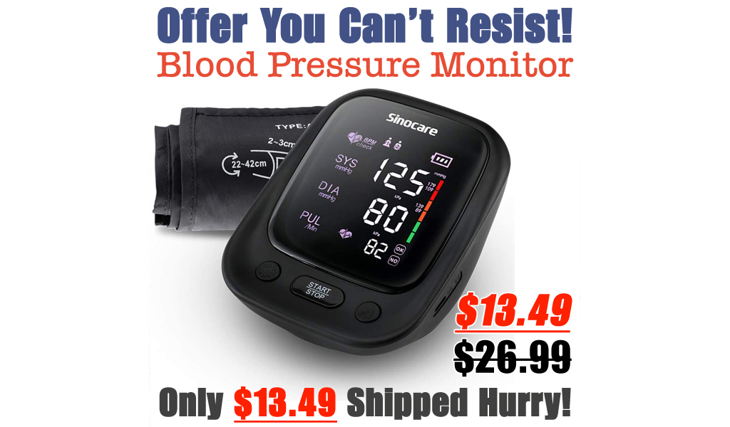 Blood Pressure Monitor Only $13.49 Shipped on Amazon (Regularly $26.99)