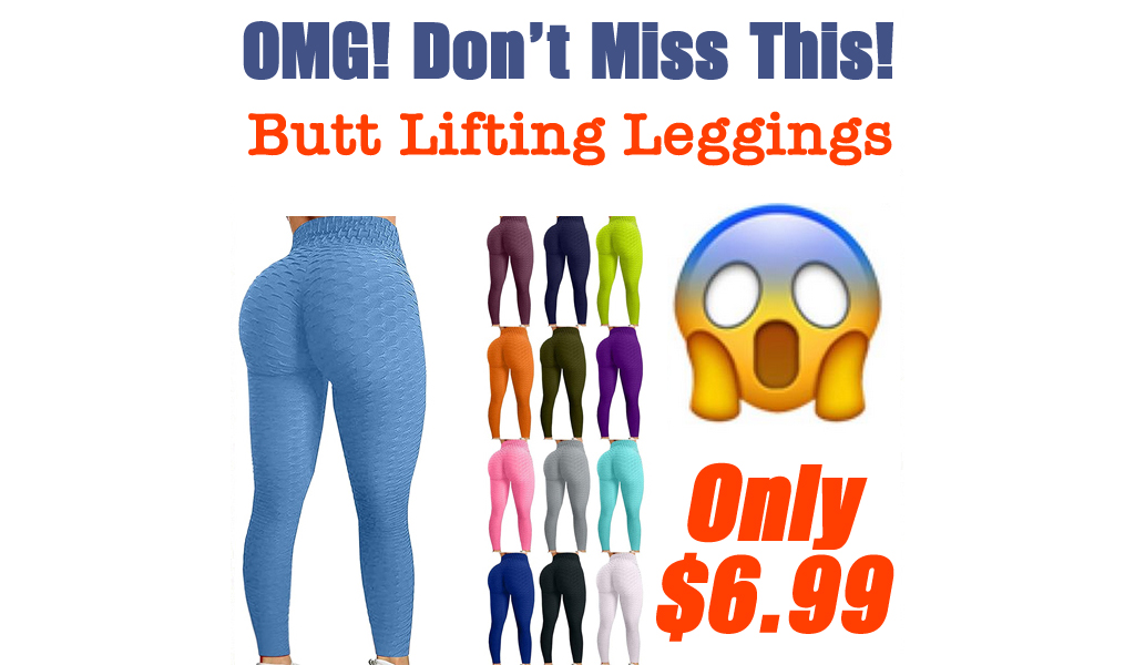 Butt Lifting Leggings Only $6.99 Shipped on Amazon