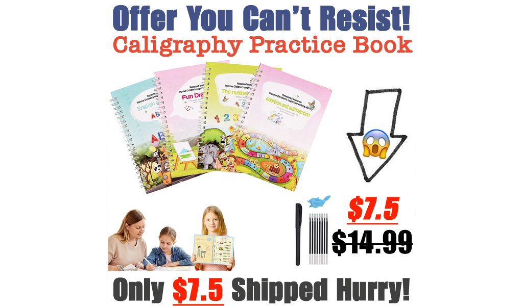 Caligraphy Practice Book Only $7.5 Shipped on Amazon (Regularly $14.99)