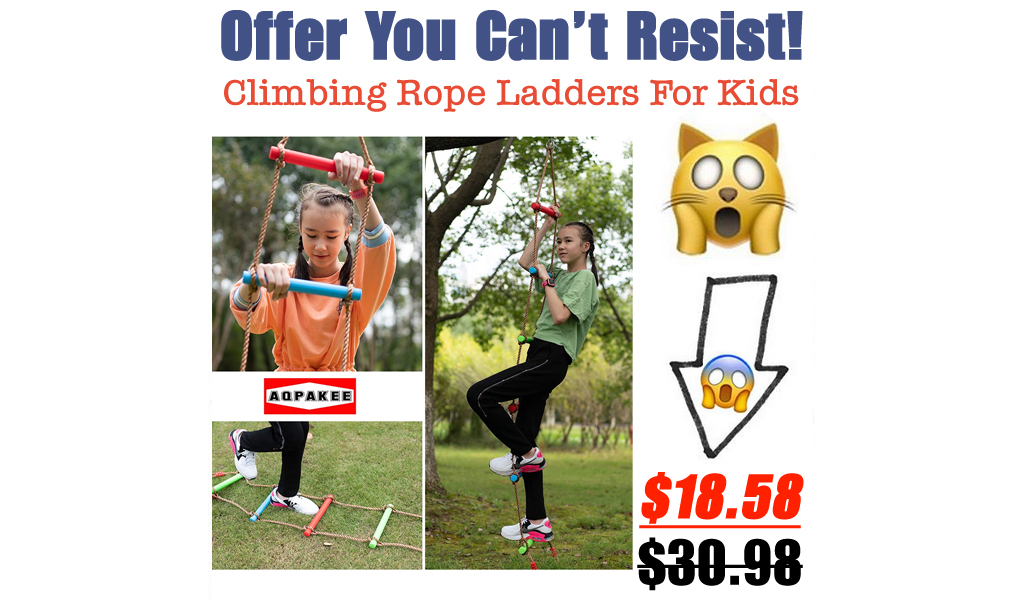 Climbing Rope Ladders For Kids Only $18.58 Shipped on Amazon (Regularly $30.98)