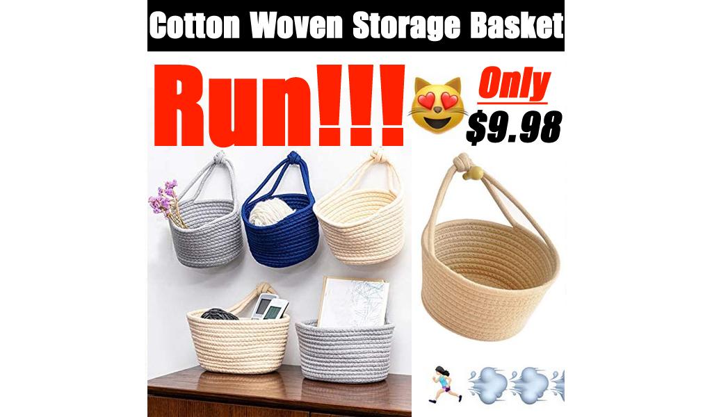 Cotton Woven Storage Basket Only $9.98 Shipped on Amazon