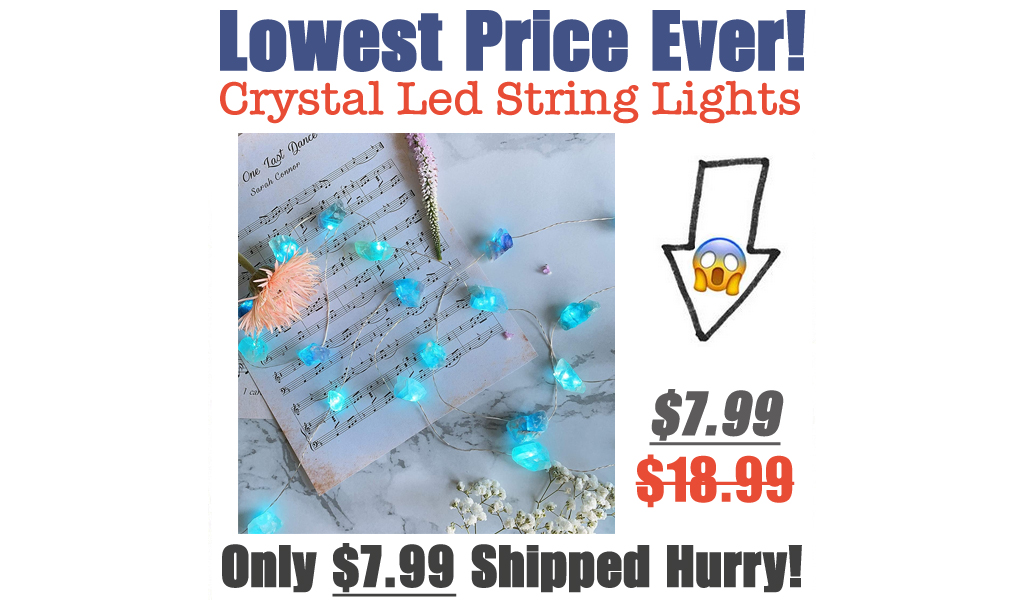 Crystal Led String Lights Only $7.99 Shipped on Amazon (Regularly $18.99)