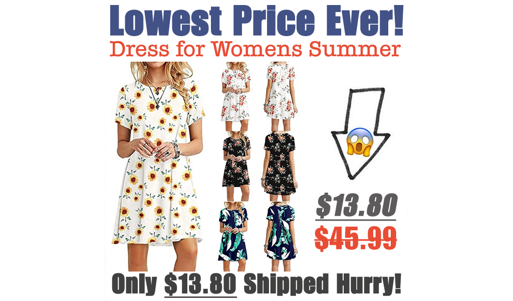 Dress for Womens Summer Just $13.80 Shipped on Amazon (Regularly $45.99)