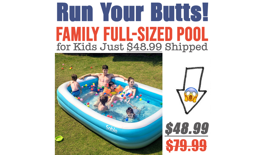 Family Full-Sized Pool for Kids Just $48.99 Shipped on Amazon (Regularly $79.99)