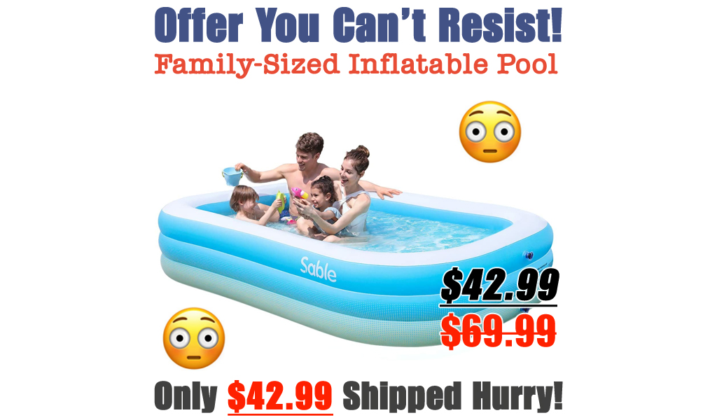 Family-Sized Inflatable Pool Only $42.99 Shipped on Amazon (Regularly $69.99)