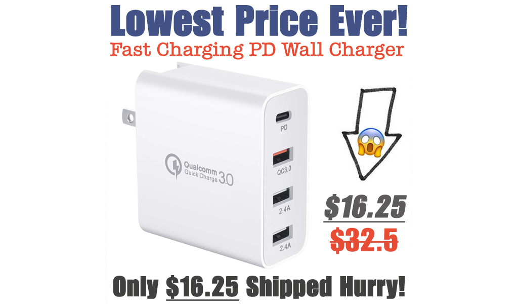 Fast Charging PD Wall Charger Only $16.25 Shipped on Amazon (Regularly $32.5)