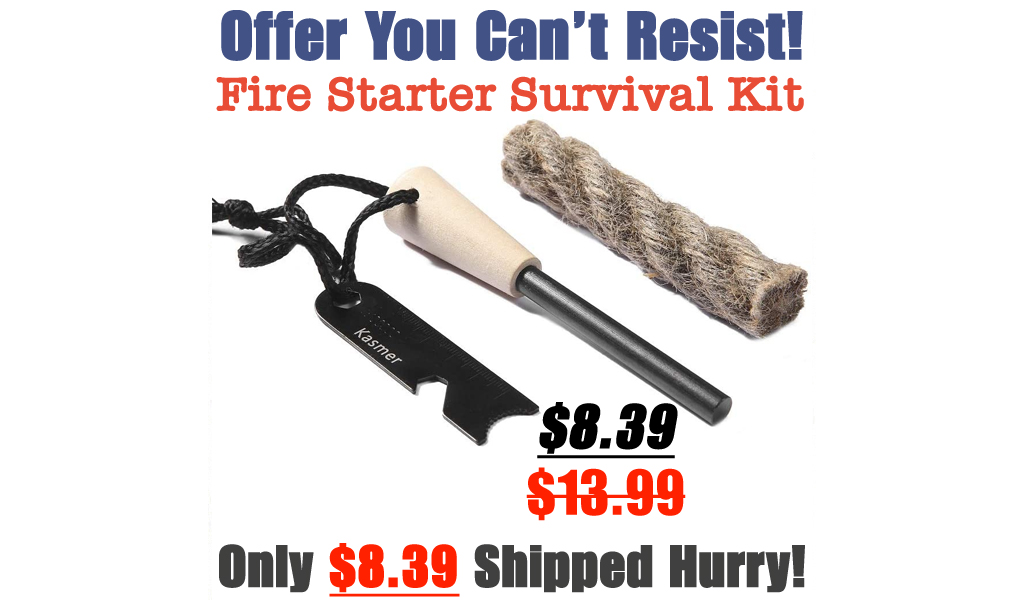 Fire Starter Survival Kit Only $8.39 Shipped on Amazon (Regularly $13.99)