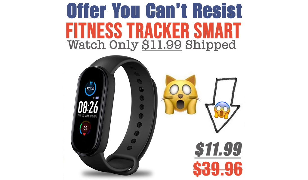 Fitness Tracker Smart Watch Only $11.99 Shipped on Amazon (Regularly $39.96)