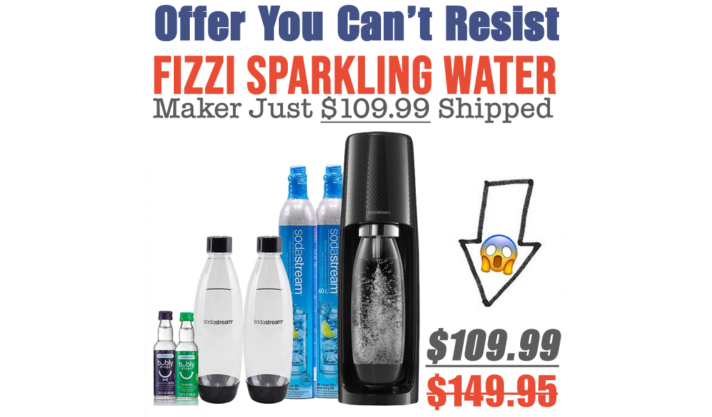 Fizzi Sparkling Water Maker Just $109.99 Shipped on Amazon (Regularly $149.95)
