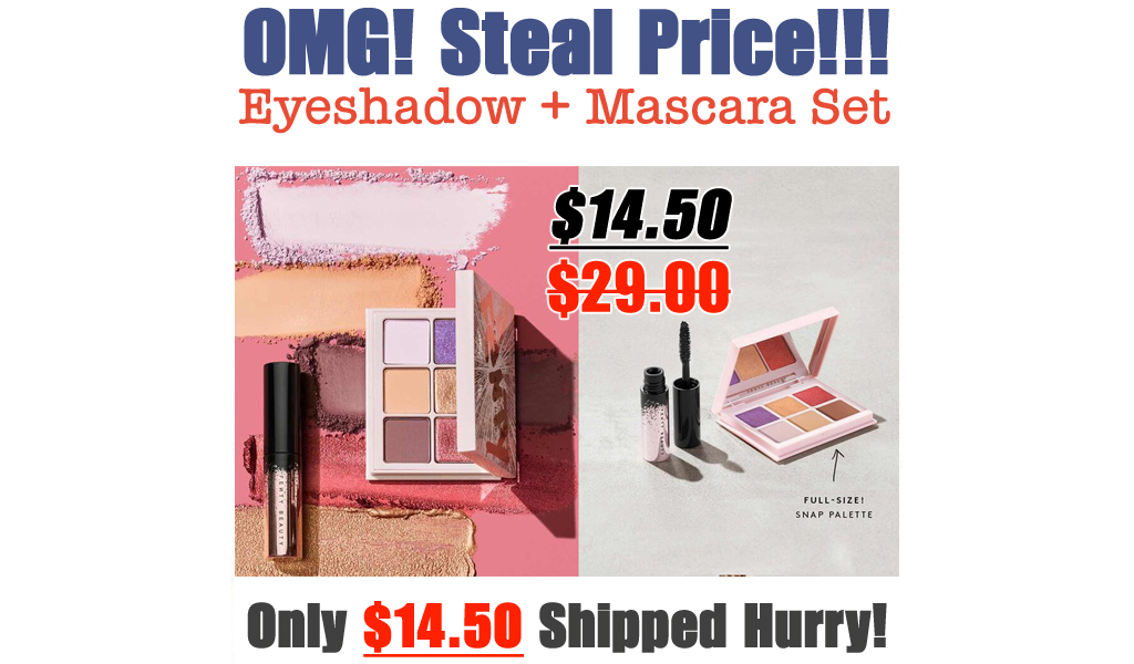 Full Snap Eyeshadow + Mini Mascara Set Only $14.50 on FentyBeauty (Regularly $29.00)
