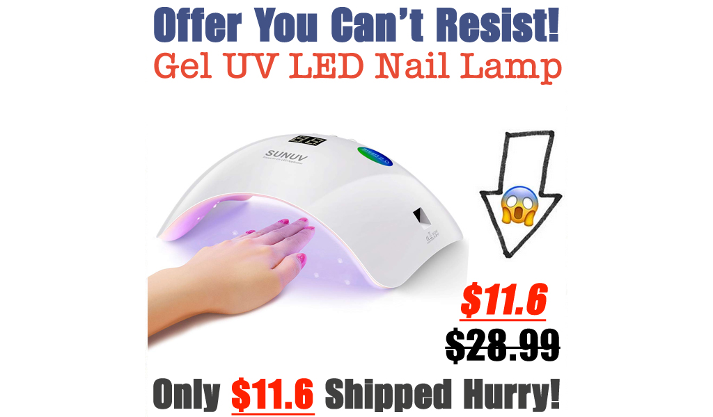 Gel UV LED Nail Lamp Only $11.6 Shipped on Amazon (Regularly $28.99)