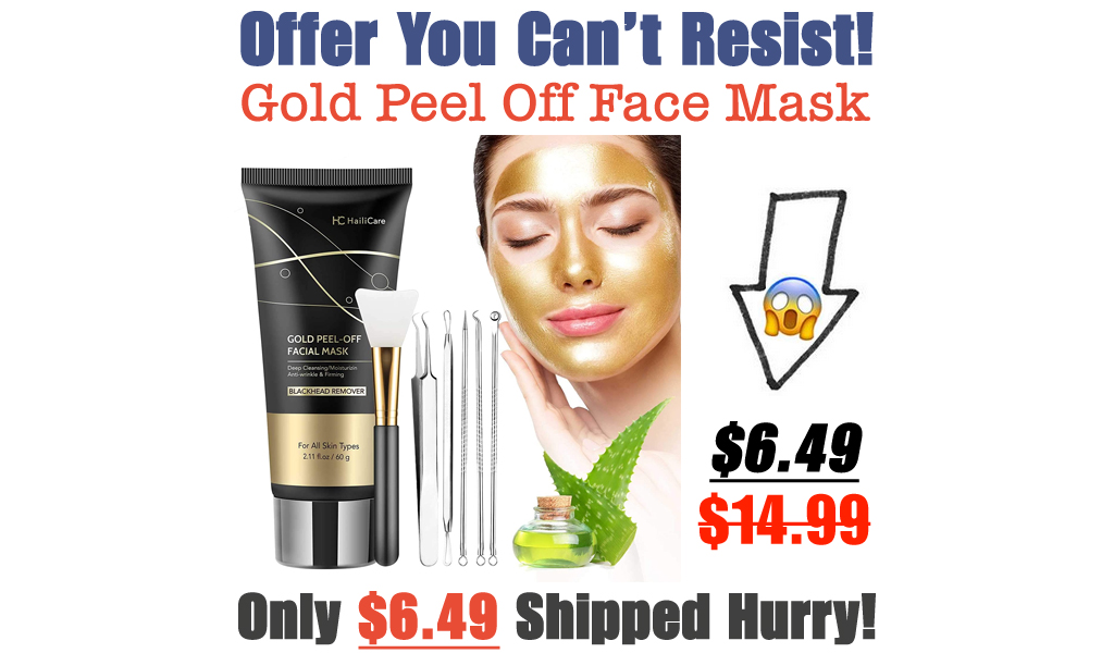 Gold Peel Off Face Mask Only $6.49 Shipped on Amazon (Regularly $14.99)