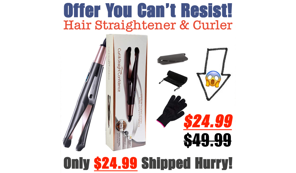 Hair Straightener & Curler Only $24.99 Shipped on Amazon (Regularly $49.99)