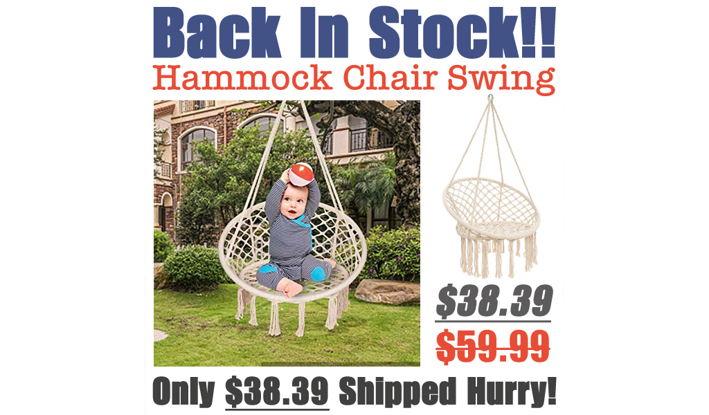Hammock Chair Swing Only $38.39 Shipped on Amazon (Regularly $59.99)