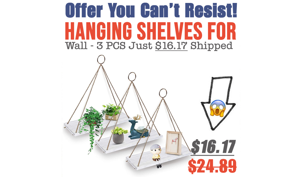 Hanging Shelves for Wall - 3 PCS Just $16.17 Shipped on Amazon (Regularly $24.89)
