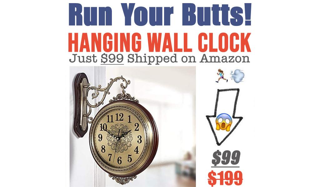 Hanging Wall Clock Just $99 Shipped on Amazon (Regularly $199)