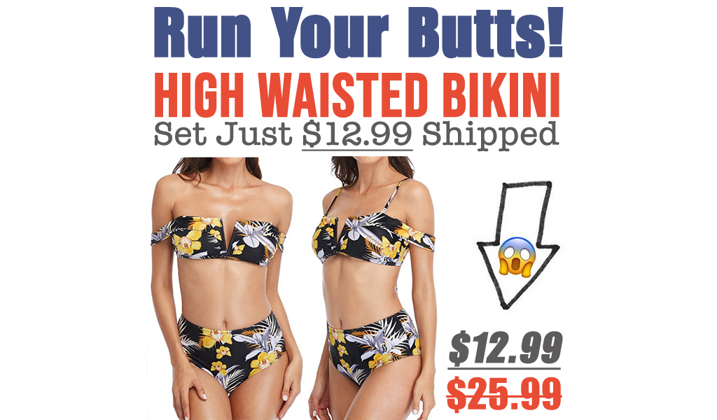 High Waisted Bikini Set Just $12.99 Shipped on Amazon (Regularly $25.99)