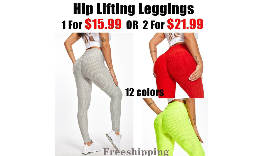 High Waisted Hip Lifting Leggings