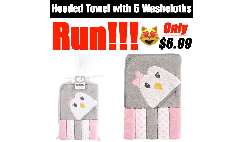 Hooded Towel with 5 Washcloths Only $6.99 Shipped on Amazon