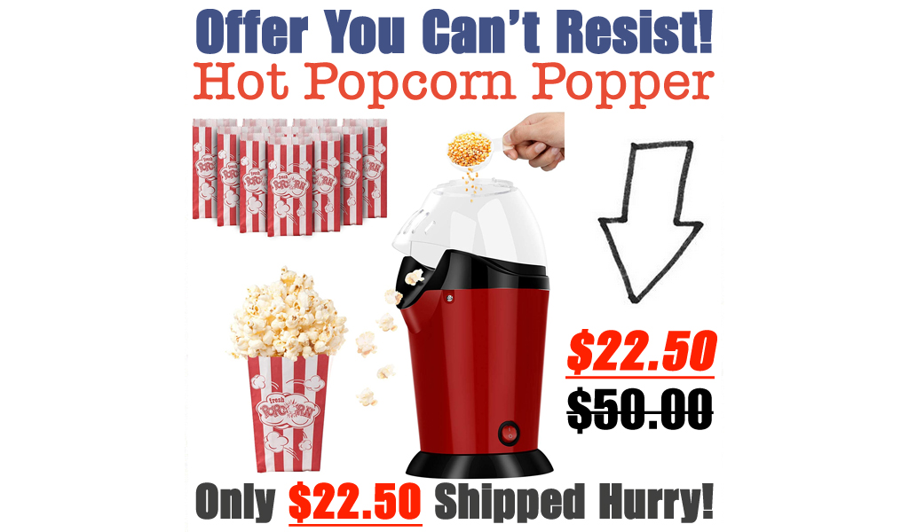 Hot Popcorn Popper Only $22.50 Shipped on Amazon (Regularly $50.00)