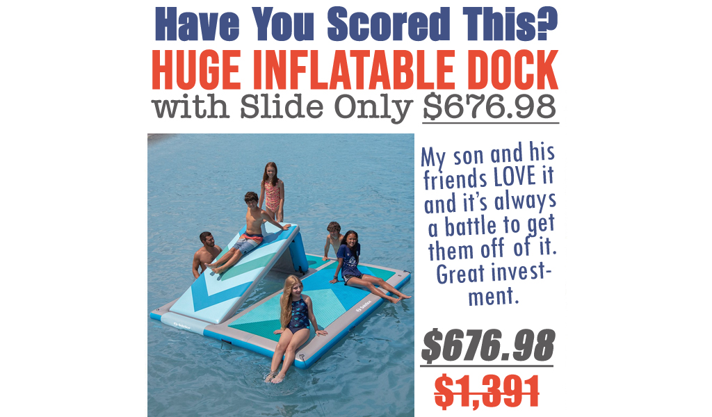 Huge Inflatable Dock with Slide Only $676.98 Shipped on Zulily (Regularly $1,391)