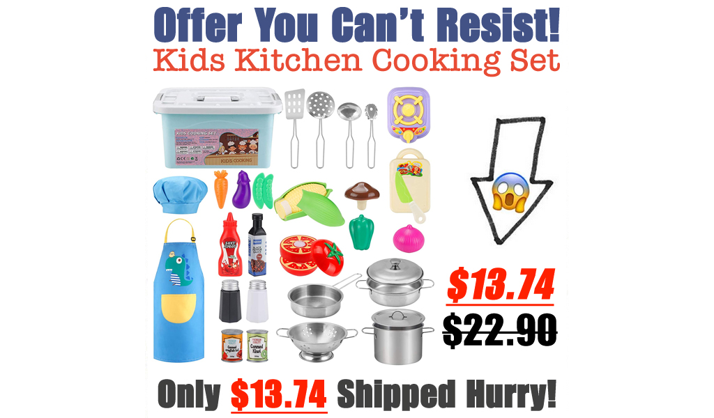 Kids Kitchen Cooking Set Only $13.74 Shipped on Amazon (Regularly $22.90)