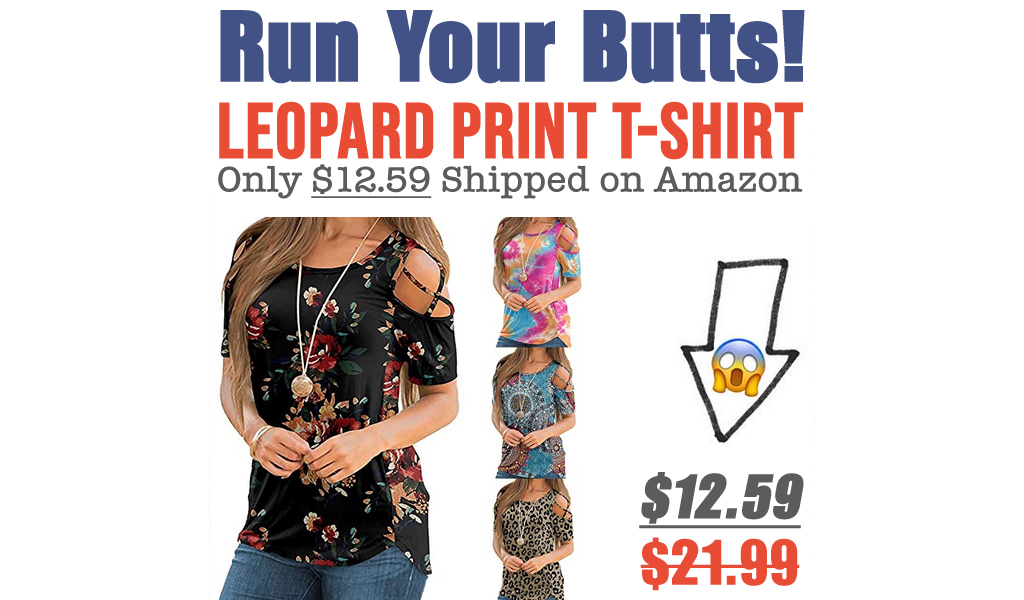 Leopard Print T-Shirt Only $12.59 Shipped on Amazon (Regularly $21.99)