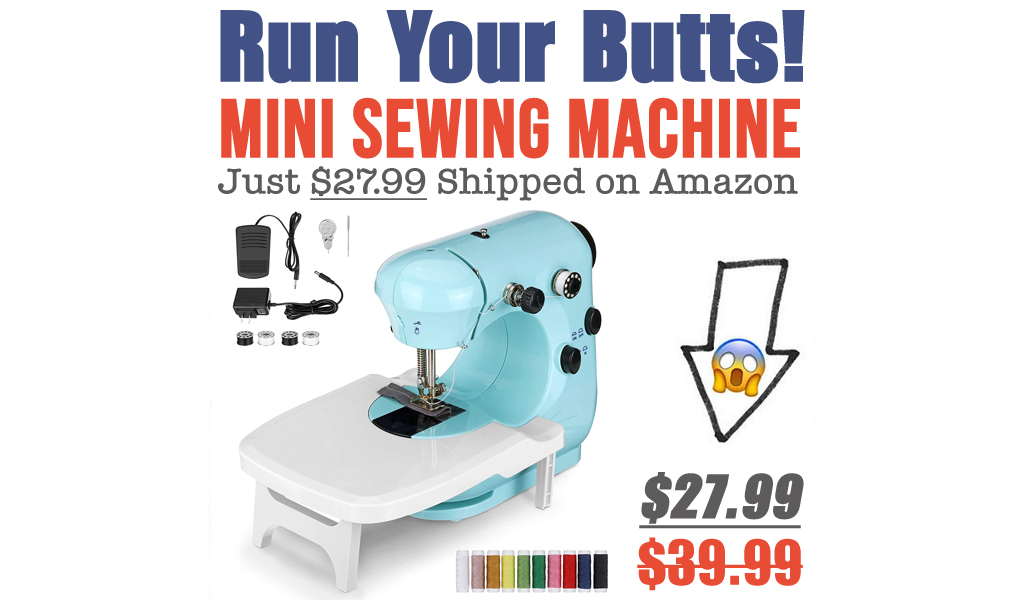 Mini Sewing Machine Just $27.99 Shipped on Amazon (Regularly $39.99)