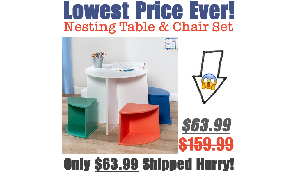 Nesting Table & Chair Set Only $63.99 Shipped on Zulily (Regularly $159.99)