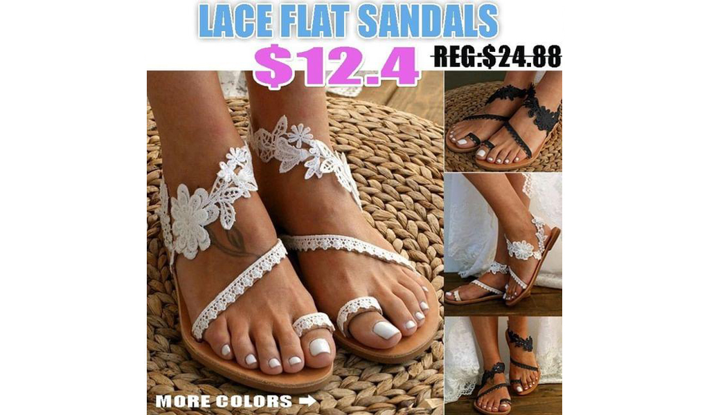 New Womens Lace Bohemia Flat Sandals +Free Shipping!