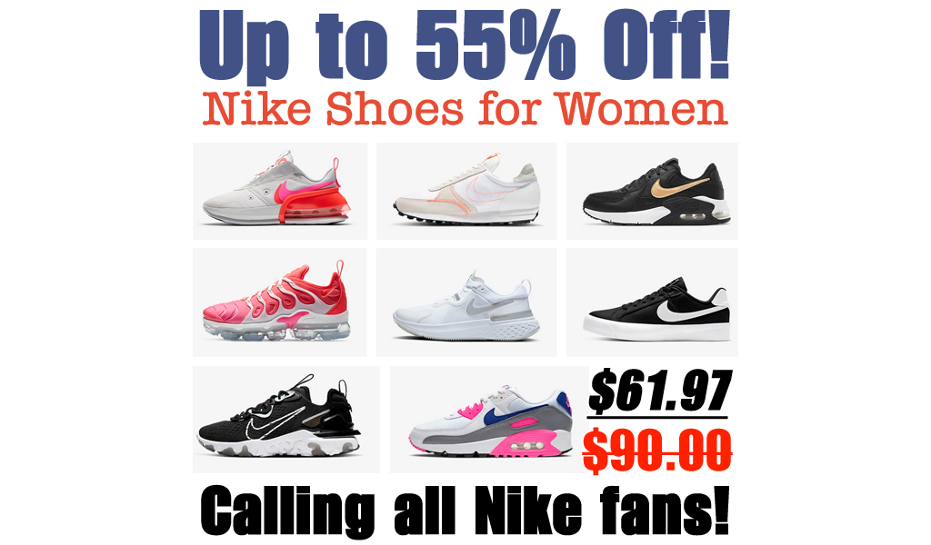 Nike Womens's Running Shoes Just $61.97 Shipped (Regularly $90)