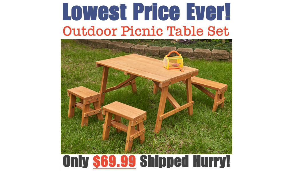 Outdoor Picnic Table Set Only $69.99 Shipped on Walmart