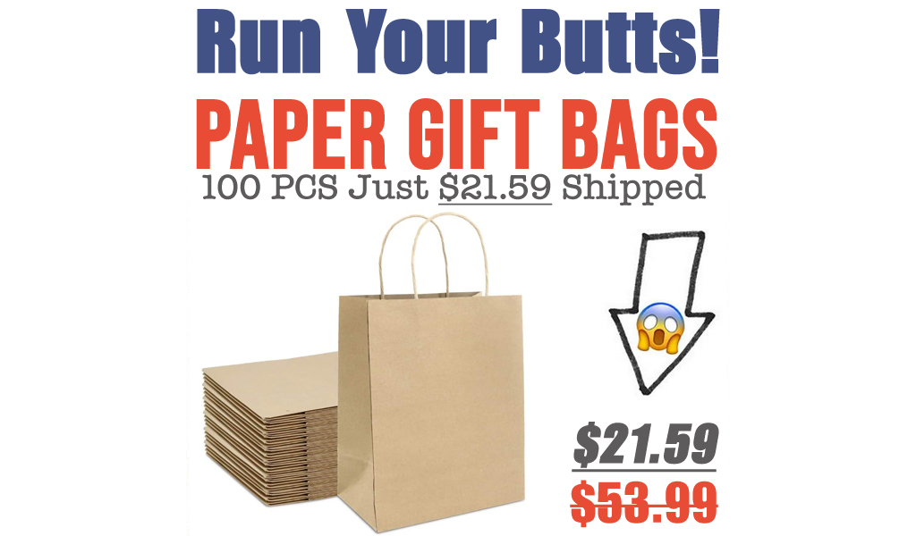 Paper Gift Bags - 100 PCS Just $21.59 Shipped on Amazon (Regularly $53.99)