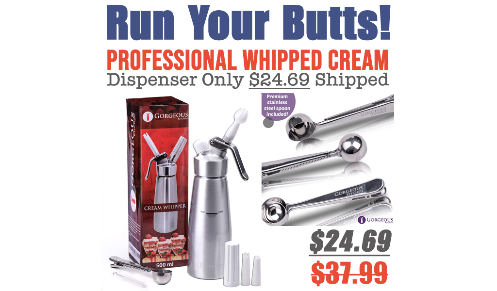 Professional Whipped Cream Dispenser Only $24.69 Shipped on Amazon (Regularly $37.99)