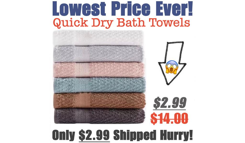 Quick Dry Bath Towels Just $2.99 on Macys.com (Regularly $14.00)