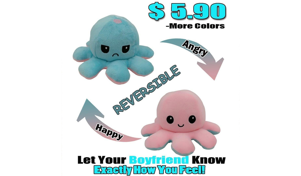 67% Off Reversible Octopus Plushie +Free Shipping!