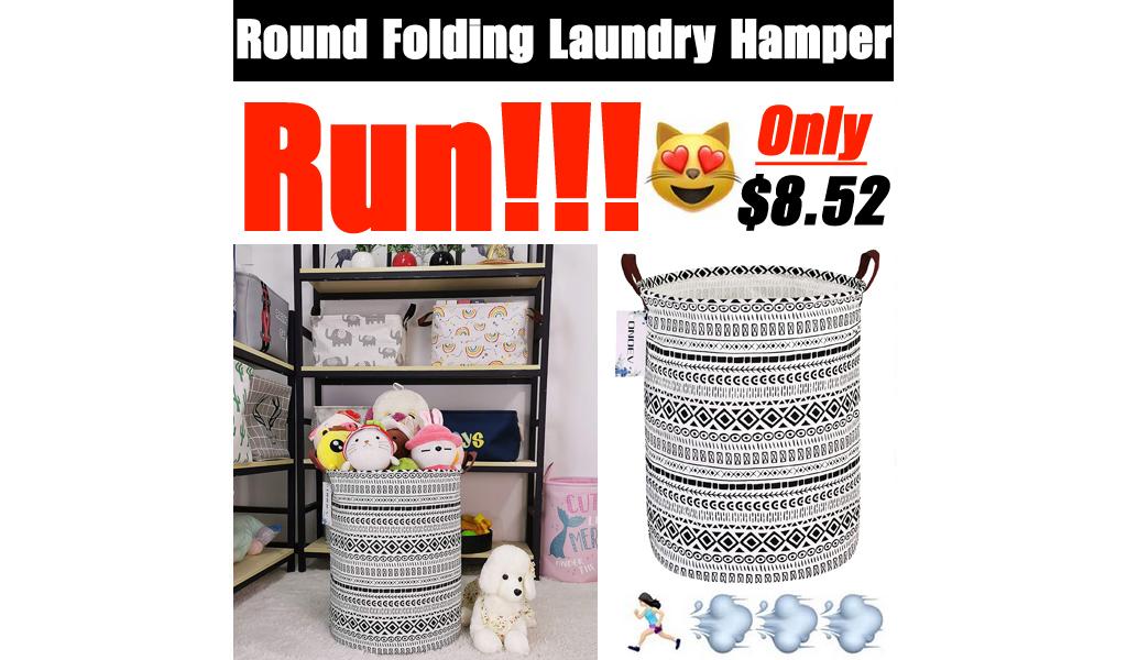 Round Folding Laundry Hamper Only $8.52 Shipped on Amazon