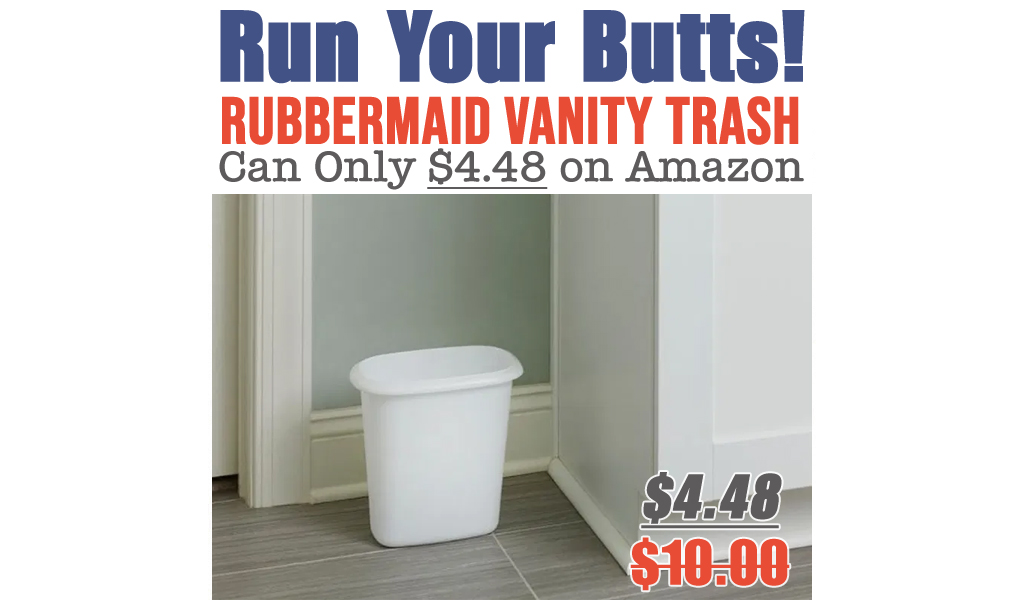 Rubbermaid Vanity Trash Can Only $4.48 on Amazon (Regularly $10)