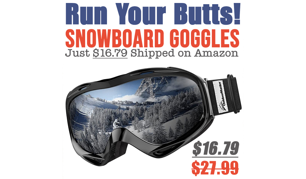 Snowboard Goggles Just $16.79 Shipped on Amazon (Regularly $27.99)